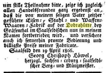 Todesanzeige Heinrich Christian Löwel2